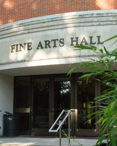 Exterior of Fine Arts Hall