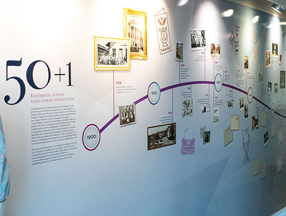 Communication Arts timeline wall