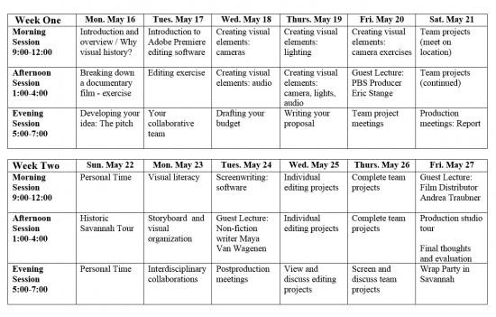 VHSI - schedule 2016