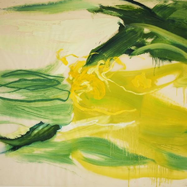 Frühjahr 2015 BurgasGreenYellow o.T. Öl auf Papier