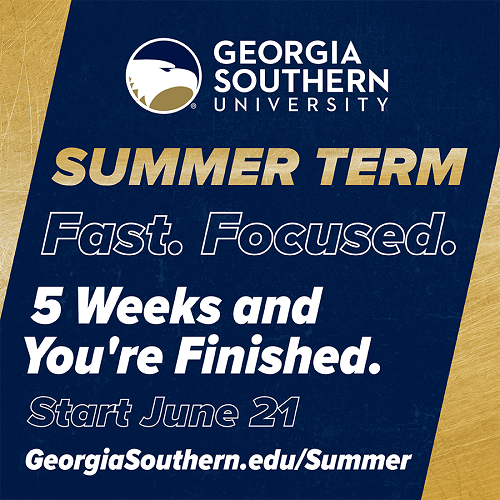 Summer term 2021. Five weeks and you are finished.