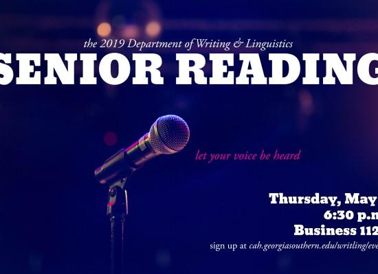 2019 senior reading poster